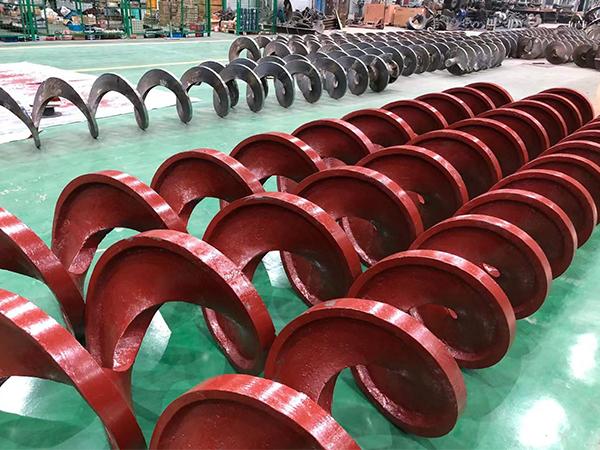 螺旋叶片关键用以输送黏度很大和流体密度物料
